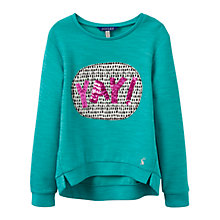 Buy Little Joule Girls' Screen Printed Sweatshirt, Cool Green Online at johnlewis.com