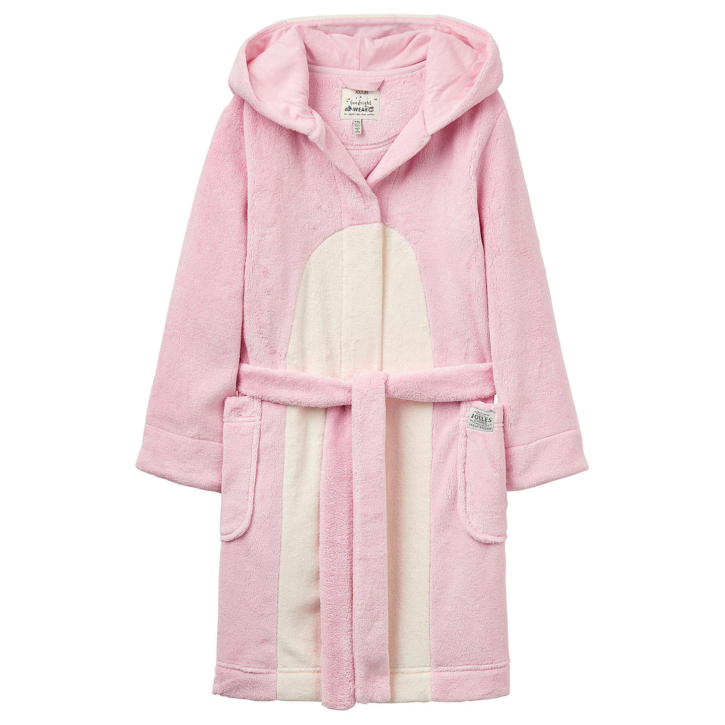 Little Joule Children\'s Penguin Dressing Gown, Rose Pink at John Lewis