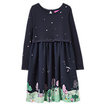 Buy Little Joule Girls' Jersey Scene Print Dress, Navy Online at johnlewis.com