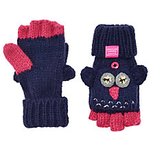 Buy Little Joule Children's Owl Mittens, Navy Online at johnlewis.com