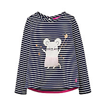 Buy Little Joule Girls' Mouse Print T-Shirt, French Navy Online at johnlewis.com