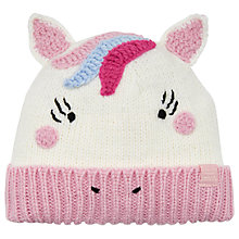 Buy Little Joule Children's Unicorn Hat, Cream Online at johnlewis.com