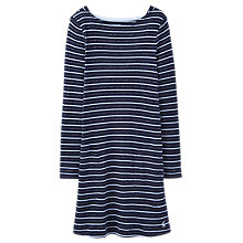 Buy Little Joule Girls' T-Shirt Stripe Dress, Navy Online at johnlewis.com