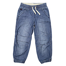 Buy Polarn O. Pyret Children's Denim Cuff Trousers, Denim Online at johnlewis.com
