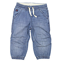 Buy Polarn O. Pyret Baby Denim Cuff Trousers, Blue Online at johnlewis.com