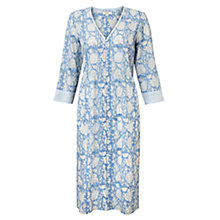 Buy East Jaya Print Pintuck Dress, Cornflower Online at johnlewis.com