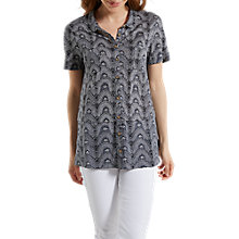 Buy White Stuff Kabana Leaf Linen Jersey Shirt Online at johnlewis.com