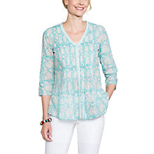 Buy East Jaya Print Pintuck Blouse, Capri Online at johnlewis.com