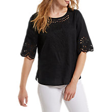 Buy White Stuff Cutwork Karala Linen Top Online at johnlewis.com