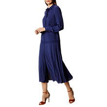Buy Karen Millen Midi Shirt Dress, Navy Online at johnlewis.com