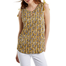 Buy White Stuff Nellie Printed Linen Jersey Shirt Vest, Tourmaline Online at johnlewis.com