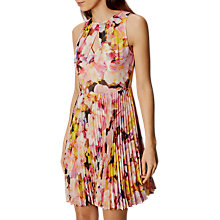 Buy Karen Millen Floral Collection Dress, Yellow/Multi Online at johnlewis.com