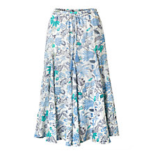 Buy East Marianne Floral Print Skirt, Pearl/Multi Online at johnlewis.com