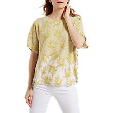 Buy White Stuff Nile Top, Tourmaline Yellow Print Online at johnlewis.com