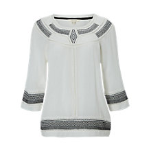 Buy White Stuff Grecian Top, Chalk White Online at johnlewis.com