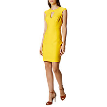 Buy Karen Millen Colourful Scuba Dress, Yellow Online at johnlewis.com