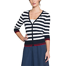 Buy East Combination Stripe Cardigan, White Online at johnlewis.com