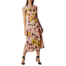 Buy Karen Millen Tie Belt Floral Print Jumpsuit, Yellow/Multi Online at johnlewis.com