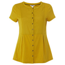 Buy White Stuff Katie Jersey Shirt, Yellow Online at johnlewis.com