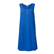 Buy East Linen Pocket Shift Dress, Ocean Online at johnlewis.com