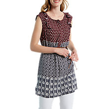 Buy White Stuff Hibiscus Tunic Vest, Red Online at johnlewis.com