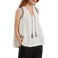 Buy White Stuff Alexa Embroidered Vest, White Online at johnlewis.com