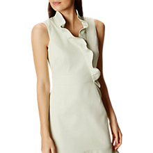 Buy Karen Millen Mini Ruffle Dress, Pale Green Online at johnlewis.com