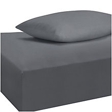 Buy John Lewis The Basics Polycotton Fitted Sheet and Pillowcase Set Online at johnlewis.com