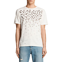 Buy AllSaints Sirius Stencil Star Print T-Shirt Online at johnlewis.com