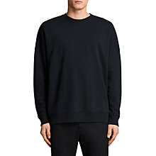 Buy AllSaints Anark Crew Sweatshirt, Jet Black Online at johnlewis.com