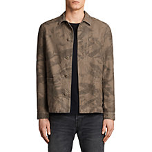 Buy AllSaints Yasuko Workers Jacket, Khaki Brown Online at johnlewis.com