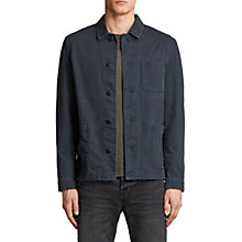 Buy AllSaints Kope Workers Jacket, Charcoal Grey Online at johnlewis.com