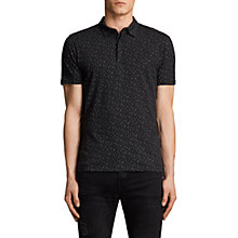 Buy AllSaints Argo Short Sleeve Polo Shirt, Black/Chalk Online at johnlewis.com