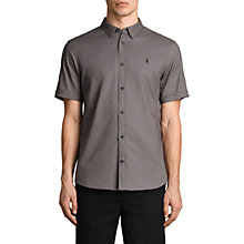 Buy AllSaints Topanga Short Sleeve Slim Shirt, Slate Grey Online at johnlewis.com