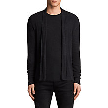Buy AllSaints Marrin Cotton Cardigan, Cinder Black Marl Online at johnlewis.com