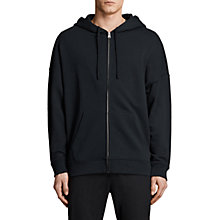 Buy AllSaints Anark Full Zip Hoodie, Jet Black Online at johnlewis.com
