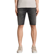 Buy AllSaints Byers Switch Denim Shorts, Jet Black Online at johnlewis.com