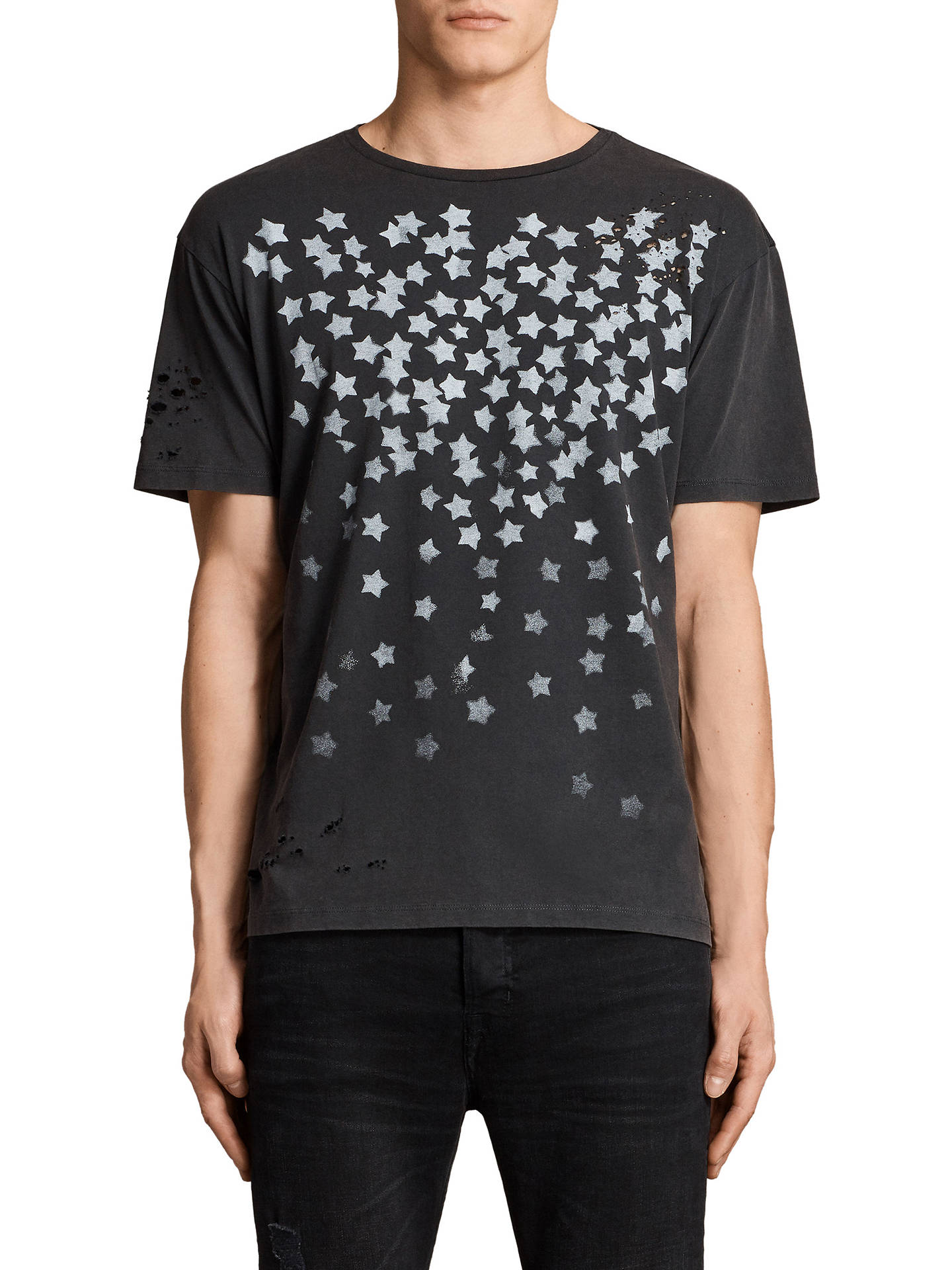 AllSaints Sirius Stencil Star Print T Shirt at John Lewis