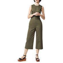 Buy Warehouse D-Ring Jumpsuit, Khaki Online at johnlewis.com