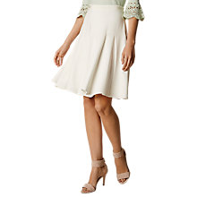 Buy Karen Millen Fluid Tailoring Skirt, Ivory Online at johnlewis.com