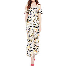 Buy Miss Selfridge Ruffle Detail Oriental Floral Jumpsuit, Grey/Multi Online at johnlewis.com
