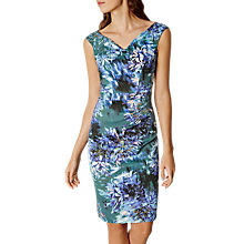 Buy Karen Millen Floral Print V-Neck Dress, Multi Online at johnlewis.com