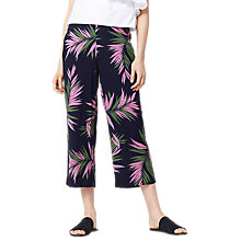 Buy Warehouse Pattern Graphic Palm Trousers, Blue Online at johnlewis.com