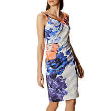 Buy Karen Millen Floral Draped Pencil Skirt, Multicolour Online at johnlewis.com