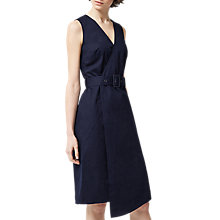 Buy Warehouse Cotton D-Ring Dress, Navy Online at johnlewis.com