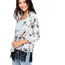 Buy Miss Selfridge Print Jacquard Kimono Jacket, Multi Online at johnlewis.com
