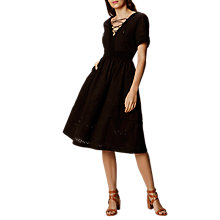 Buy Karen Millen Lace A-Line Dress, Black Online at johnlewis.com