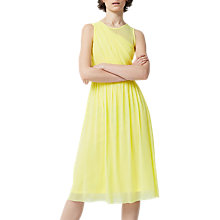 Buy Warehouse Occasion Mesh Wrap Dress, Yellow Online at johnlewis.com