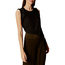 Buy Karen Millen Frill Sleeve Top, Black Online at johnlewis.com