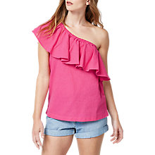 Buy Warehouse Ruffle Shoulder Top Online at johnlewis.com